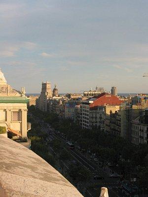 Pohled z Casa Mila