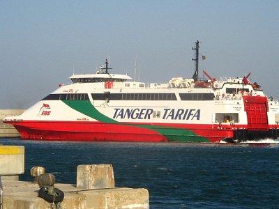 Trajekt z Tarify do Maroka