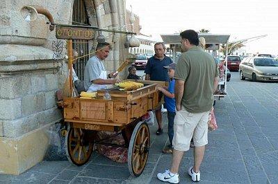 prodej kukuřice v Rhodosu (nahrál: Hanka)