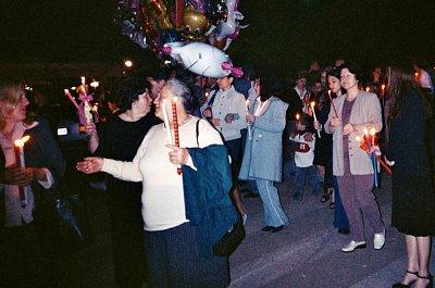 Oslava velikonoc v Kerkiře na Korfu (nahrál: Libor)