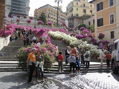 Španělské schody  - v dubnu 2008 (nahrál: Miljak)