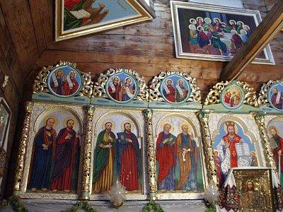 v dřevěném kostelíku v Karpatech (nahrál: admin)