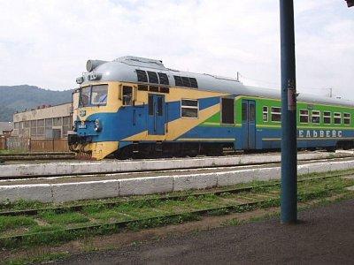 železniční trať v Zakarpatí (nahrál: Kamil Hainc)