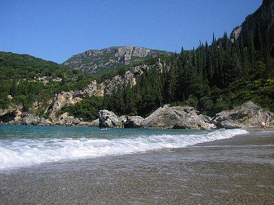 pláž v Liapades - pláž u hotelu Elly Beach (nahrál: Jiří Skoupý)