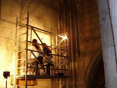 práce na obnově  (nahrál: petras21)