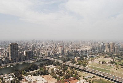 Cairo Tower - Výhled z Cairo Tower na Káhiru. (nahrál: evelyn)